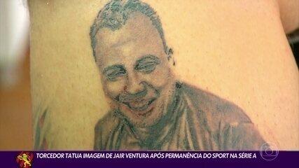 Torcedor do Sport faz tatuagem de Jair Ventura
