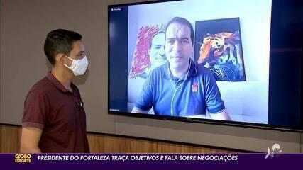 Presidente do Fortaleza projeta 2021 e defende Enderson