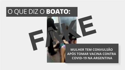 É #FAKE que vídeo mostre mulher com convulsão na Argentina logo após vacina contra Covid