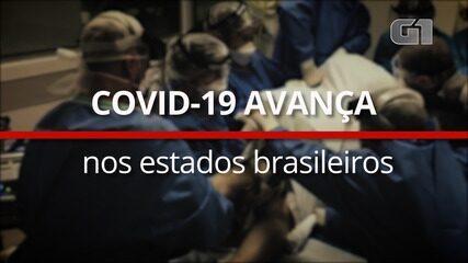Covid-19 avança nos estados brasileiros