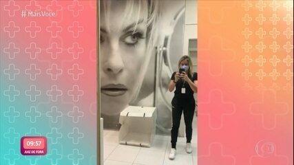 Fernanda Gentil mostra estúdio que foi de Ana Maria para reestreia do 'Se Joga'