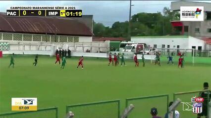 Pinheiro 0x0 Imperatriz, jogo pela terceira rodada do Campeonato Maranhense