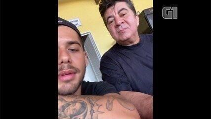 Zé Felipe posta vídeo com Passim em rede social