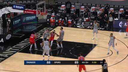 Melhores momentos: San Antonio Spurs 102 x 107 Oklahoma City Thunder pela NBA