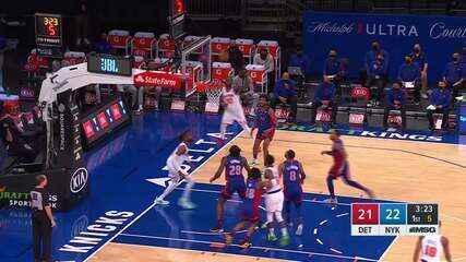 Melhores momentos: New York Knicks 114 x 104 Detroit Pistons pela NBA