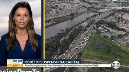 'Não há hipótese de não ter fase vermelha', diz governo de SP após protestos contra endurecimento da quarentena