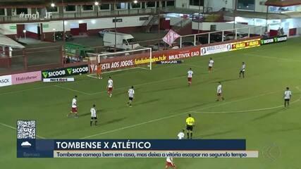 Rubens perde pênalti, e Tombense é derrotado em casa pelo Atlético-MG