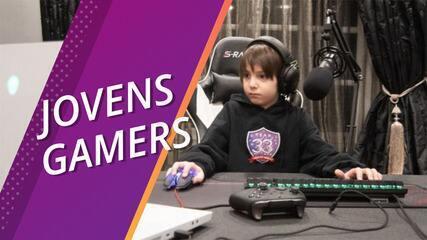 Jovens gamers profissionais têm rotina e salário de adultos