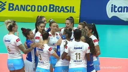 Melhores momentos: Brasília 0 x 3 Minas pela Superliga Feminina de Vôlei