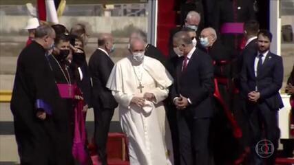 Papa Francisco chega a Bagdá