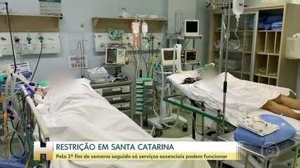 Pelo 2º fim de semana seguido só serviços essenciais podem funcionar em Santa Catarina