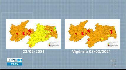 Paraíba tem 95% das cidades em bandeira laranja
