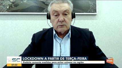 Prefeito de Lages comenta, na segunda (8), medidas para evitar colapso na região