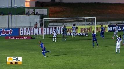 CSA e Confiança empatam por 2 a 2 pela Copa do Nordeste
