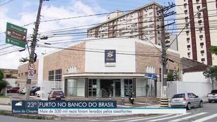 Assaltantes levam mais de R$ 330 mil de banco em Santos, SP