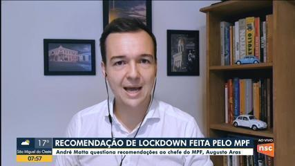 Secretário de Saúde de SC questiona recomendações ao chefe do MPF, Augusto Aras