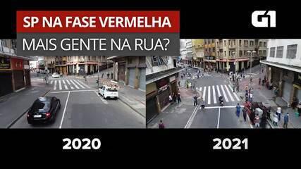 Um ano de pandemia: drone mostra ruas de SP em março de 2020 e março de 2021