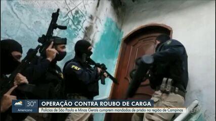 Quadrilha é presa em operação policial contra roubo de carga na região de Campinas