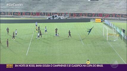 Em noite de Rossi, Bahia atropela o Campinense e avança na Copa do Brasil