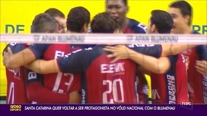 Santa Catarina quer voltar a ser protagonista no vôlei nacional