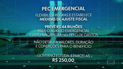 Deputados analisaram pelo 2º dia seguido PEC que vai possibilitar pagamento de parcelas novas do auxílio emergencial