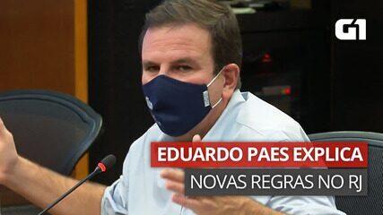 VÍDEO: Eduardo Paes explica novos horários para funcionamento de estabelecimentos no Rio