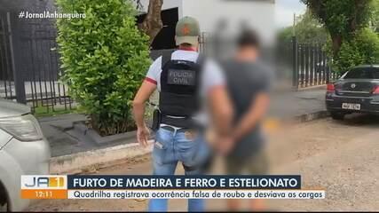 Grupo suspeito de desviar cargas de madeira e ferro é preso em Goiânia