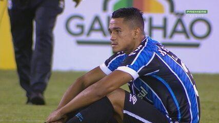 Emocionado, Lucas Araújo celebra primeiro gol no profissional e dedica ao primo