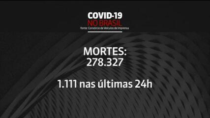 Brasil registra 1.111 mortes pela Covid-19 nas últimas 24 horas, aponta consórcio