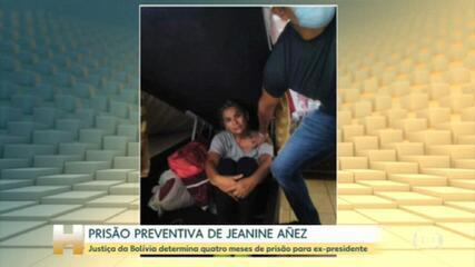 Justiça impõe quatro meses de prisão preventiva para ex-presidente da Bolívia, Jeanine Áñez