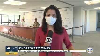 Governo de Minas endurece restrições para conter avanço da Covid-19