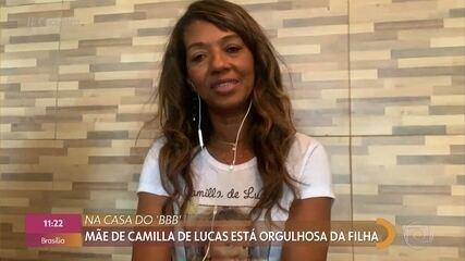 Mãe de Camilla de Lucas elogia coerência da filha no BBB21