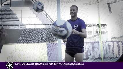 Carli volta ao Botafogo para tentar acesso à série A