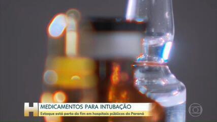 Estoque de medicamentos usados para intubar pacientes está perto do fim em hospitais do Paraná