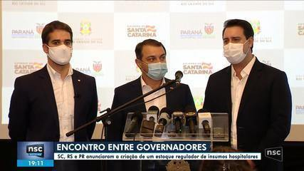 SC, RS e PR anunciam compartilhamento de gestão da pandemia