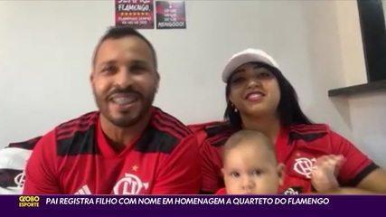 Torcedor batiza filho de Gabriel Henrique Arrascaeta Ribeiro, em homenagem a quarteto do Flamengo