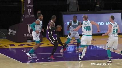 Melhores momentos: Los Angeles Lakers 116 x 105 Charlotte Hornets pela NBA