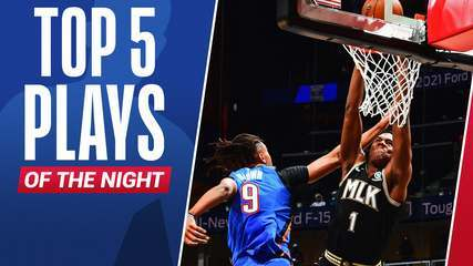 Top 5: As melhores jogadas desta quinta na NBA