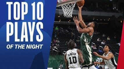 Top 10: As melhores jogadas deste sábado na NBA