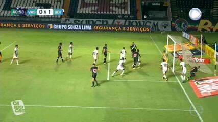 Gols do Fantástico: Vasco arranca empate com o Botafogo no final do jogo