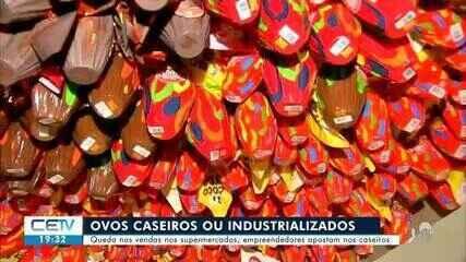 Microempresários apostam nos ovos caseiros; já supermercados têm queda dos ovos industrial
