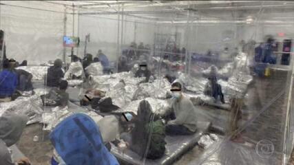 Fotos mostram situação precária de crianças em centro de imigração dos EUA