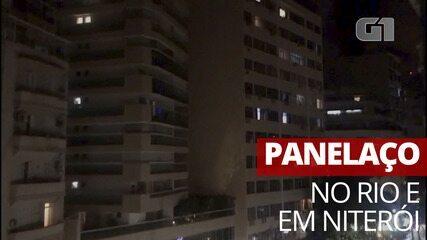 Moradores do Rio fazem panelaço contra Bolsonaro