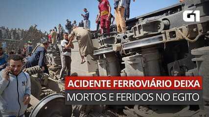 VÍDEO: Acidente ferroviário deixa mortos e feridos no Egito
