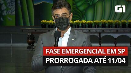 Governo de São Paulo prorroga a fase emergencial até o dia 11 de abril