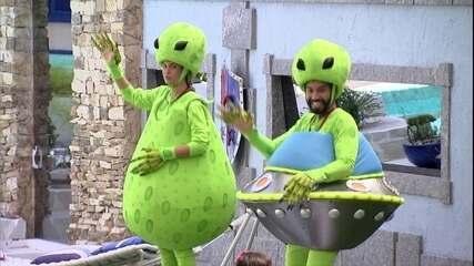 Sarah e Gilberto cumprem o Castigo do Monstro pela primeira vez no BBB21