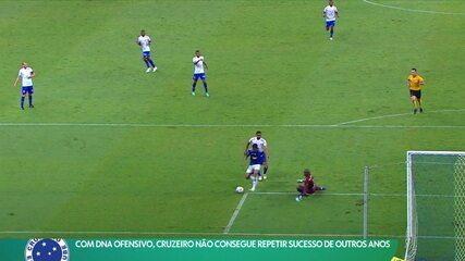 Com DNA ofensivo, Cruzeiro não consegue repetir sucesso de outros anos