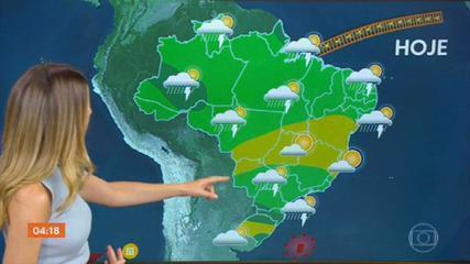 Risco é de temporal no Norte do país nesta segunda-feira