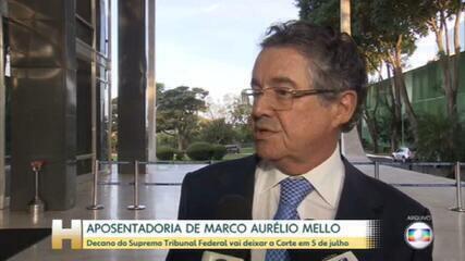 Ministro Marco Aurélio Mello anuncia aposentadoria para 5 de julho