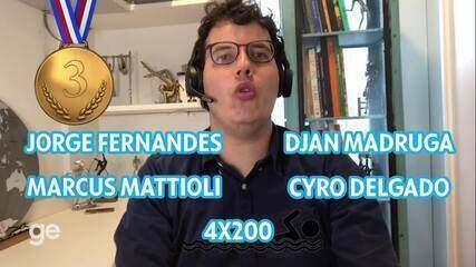 Dia #19: A terceira medalha da história da natação brasileira no 4x200